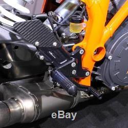 Commandes reculées sport réglable noir MG-Biketec KTM 1290 Super Duke R ABS