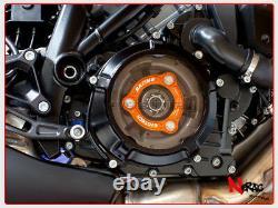 EVOTECH Protection Embrayage KTM 1190 RC8 Superduke Adventure 1290 Black/Orange