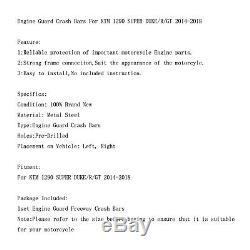 Étrier de protection inférieur CrashBar Pour KTM 1290 SUPER DUKE/GT 14-18 BLK AF