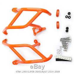 Étrier de protection inférieur CrashBar Pour KTM 1290 SUPER DUKE/R/GT 14-18 Or