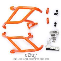 Étrier de protection inférieur CrashBar Pour KTM 1290 SUPER DUKE/R/GT 14-18 Or F