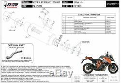 KTM 1290 SUPERDUKE GT 2016 2017 MIVV Pot échappement GP Pro Noir Homologué