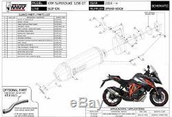 KTM 1290 SUPERDUKE GT 2018 MIVV Pot échappement SPEED EDGE Homologué