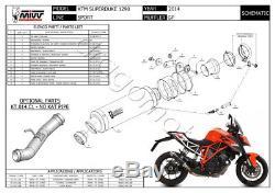 KTM 1290 Superduke 2014 14 MIVV Pot Echappement GP Steel Black Approuve