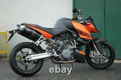 KTM 990 05-6 Super Duke QD Exhaust Slip-On Double Silencieux Set Ovale Carbone