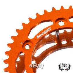 KTM Kit Chaîne Super Duke 1290 R Supersprox Orange 525 Chaîne 17/38