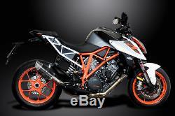 KTM SUPERDUKE 1290 et R 2014-2018 Echappement Silencieux 200mm Rond CarbonePISTE