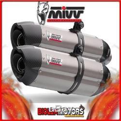 Kt. 002. L8 Kit Pot D'échappement MIVV Suono Ktm 990 Superduke 2005- Titane/carbon