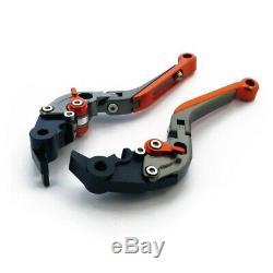 LEVIERS MOTO Flip-up Repliable Articulés Titane Orange KTM 990 SuperDuke 2005-20