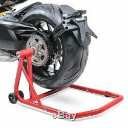 Lève de stand moto arrière KTM 1290 Super Duke GT 16-20 rouge monobras