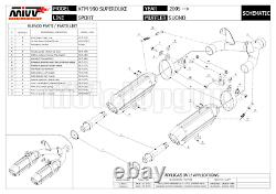 MIVV 2 Pot D Echappement Hom Suono Full Titanium CC Ktm 990 Superduke 2006 06