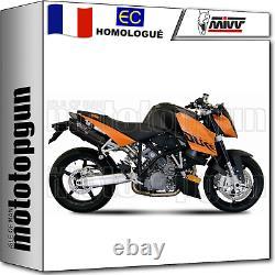 MIVV 2 Pot D Echappement Hom Suono Noir Carbon Cap Ktm 990 Superduke 2011 11