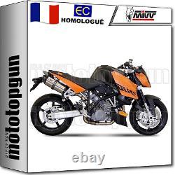 MIVV 2 Pot D Echappement Homkat Suono Carbon Cap Ktm 990 Superduke 2006 06