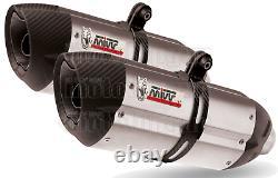 MIVV 2 Pot D Echappement Homkat Suono Carbon Cap Ktm 990 Superduke 2009 09