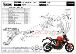 MIVV GP Pot D'Echappement approuve carbone pour KTM 1290 SUPERDUKE 2015 15