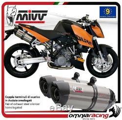 MIVV SUONO 2 Pot D'Echappement approuve acier pour KTM 990 SUPERDUKE 2008 08