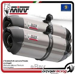 MIVV SUONO 2 Pot D'Echappement approuve titane pour KTM 990 SUPERDUKE 2009 09