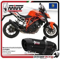 MIVV SUONO Pot D'Echappement approuve acier noir KTM 1290 SUPERDUKE 2014 14