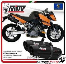 MIVV SUONO Pots D'Echappement approuve acier noir KTM 990 SUPERDUKE 2005