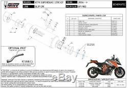 MIVV Silencer Gp Pro Titanium Ktm 1290 Superduke Gt 2016-2018