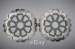 Paire disques frein avant wave 320mm pour KTM SUPER DUKE R 990 2007-2014