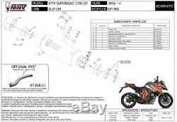 Pot échappement KTM 1290 SUPERDUKE GT 2016 2017 Gp Pro MIVV Titane