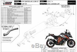 Pot échappement KTM 1290 SUPERDUKE GT 2018 2019 Oval MIVV Carbone Cc