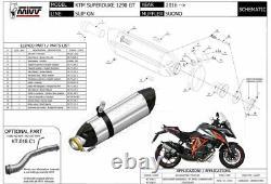 Pot échappement KTM 1290 SUPERDUKE GT 2020 Suono MIVV Noir KT. 018. L9