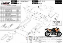 Pot échappement KTM 990 SUPERDUKE 2005 2006 Suono MIVV + Kat