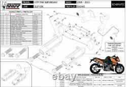Pot échappement KTM 990 SUPERDUKE 2009 2010 Suono MIVV KT. 002. L7