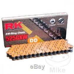 Pour KTM SUPER DUKE 1290 R ABS 2014 RX GXW 525 x 118 Orange Pignon chaîne