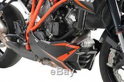 Puig Coquille Ktm 1290 Superduke R-drain Akrapovic 2016 Noir Mat