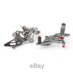 Racing Commandes reculées Rearset Foot pegs Kit Pour KTM 1290 Super Duke Gry FR