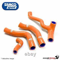 Samco kit durites de radiateur couleur orange pour KTM 1290 Super Duke 2015