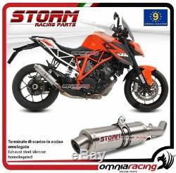 Storm GP Pot D'Echappement en acier approuve pour KTM 1290 SUPERDUKE 2014